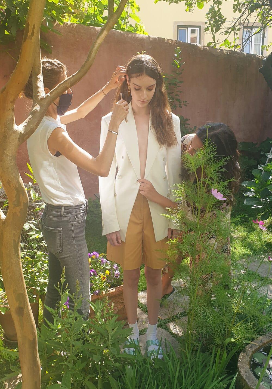 Fashion photography shoot