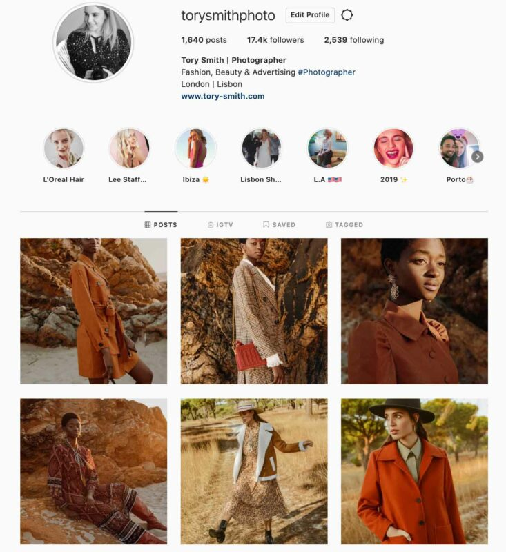 fashion photographer london influencer instagram