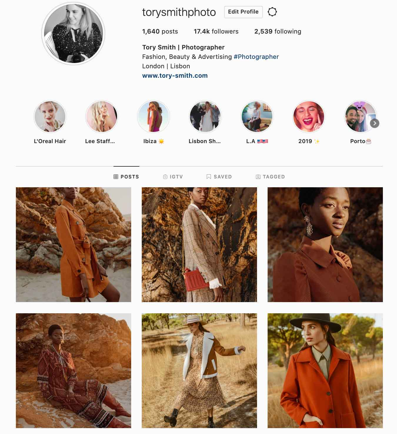 fashion photographer london influencer instagram