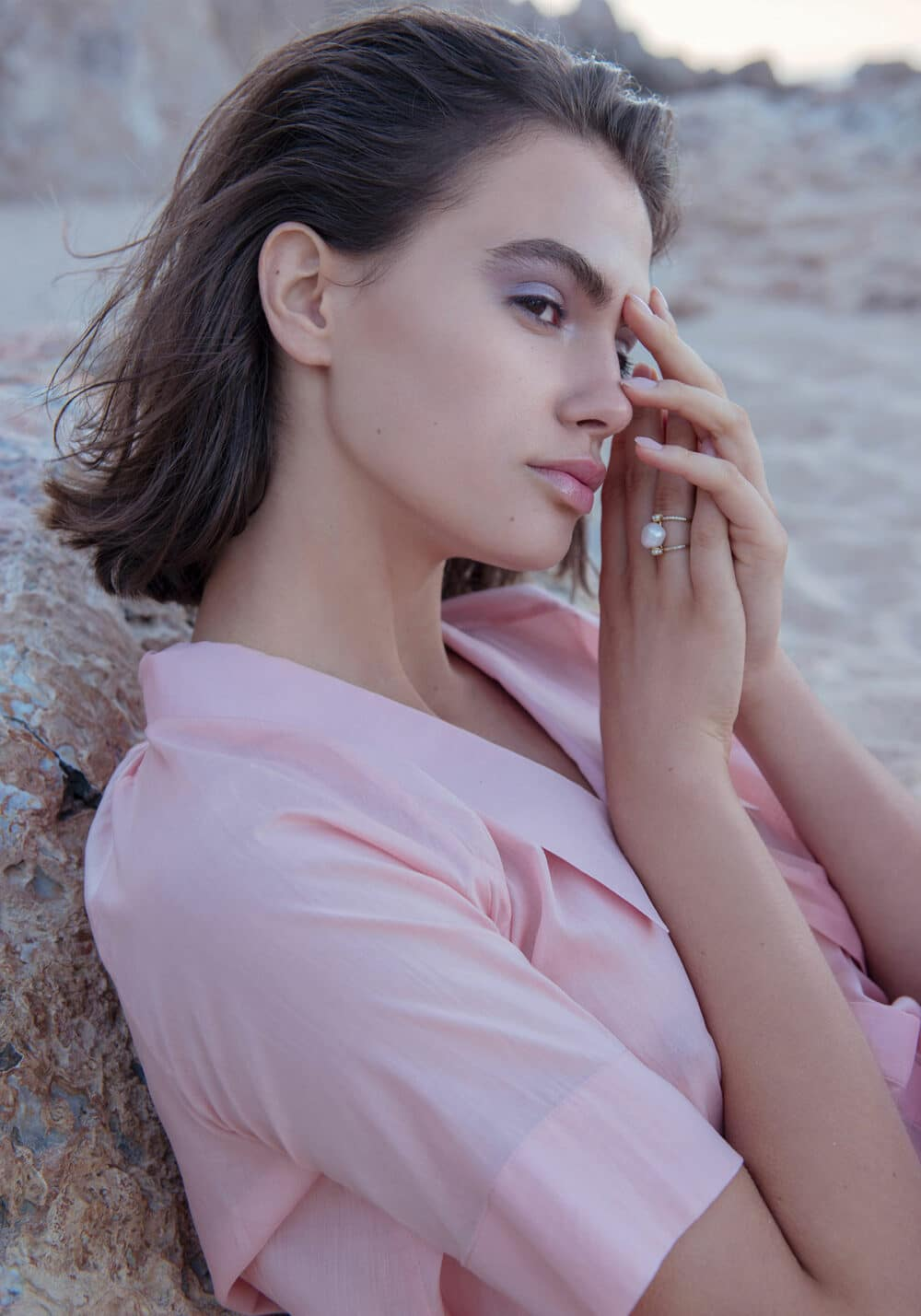 beauty photographer pastel editorial pink