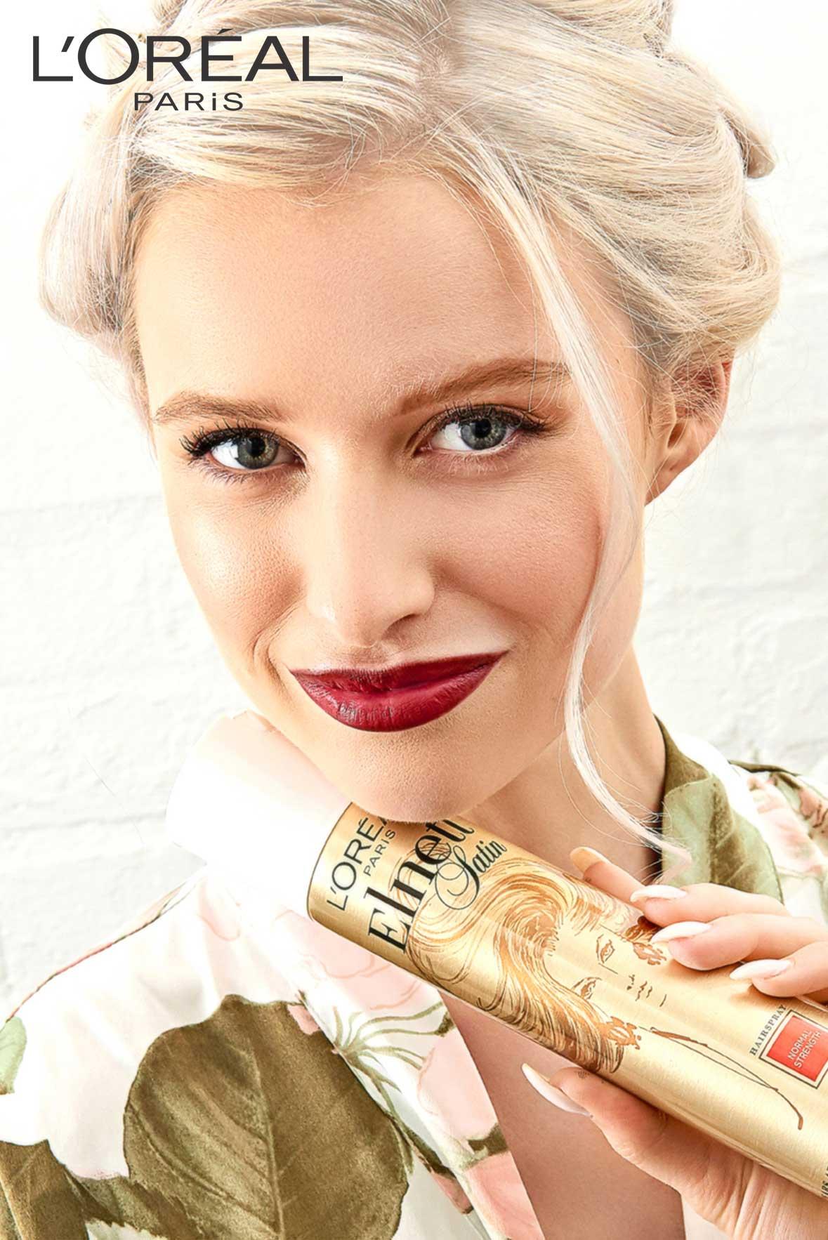 advertising photographer hair L'Oreal